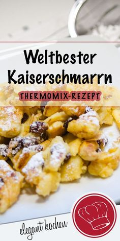 Fluffy Kaiserschmarrn for connoisseurs - your sweet breakfast from the thermal . - Fluffy Kaiserschmarrn for connoisseurs – your sweet breakfast from Thermomix®️ - Pancake Healthy, Best Pancake Recipe, Easy Dinner Recipes, Easy Meals, Pancakes From Scratch, Thermomix Desserts, Thermomix Pancakes, Homemade Pancakes, Sweet Breakfast