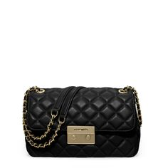 c3a975e53349 Michael Kors | Black Sloan Large Quilted-leather Shoulder Bag | Lyst  Michael Kors Handbags