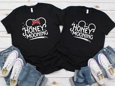 Disney anniversary shirts, Disney couple shirts, Mickey and minnie couple shirts, Disney matching shirts, Disney engagement shirts - The Trend Disney Cartoon 2019 Matching Disney Shirts, Disney Couples, Disney Shirts For Family, Disney Family, Family Shirts, Disneyland Honeymoon, Disney World Honeymoon, Couple Outfits, Disney Outfits