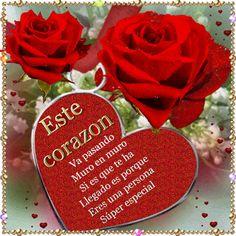 Imagenes De Rosas Rojas Con Corazones y Frases Para Compartir