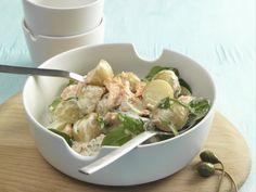 Kartoffel-Lachs-Salat mit Blattspinat ist ein Rezept mit frischen Zutaten aus der Kategorie Blattgemüse. Probieren Sie dieses und weitere Rezepte von EAT SMARTER!