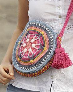 Pull Crochet, Free Crochet Bag, Crochet Shell Stitch, Crochet Tote, Crochet Gloves, Crochet Handbags, Crochet Purses, Crochet Stitches, Crochet Summer