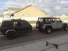 Jeep Cherokee trailer and tow vehicle