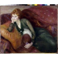 Young Woman in Green ca1900 William James Glackens (1870-1938American) Oil on canvas St Louis Art Museum St Louis Missouri Canvas Art - William James Glackens (18 x 24)