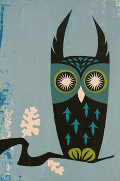 'Owl' by Susan Crawford of Plankton Art Co