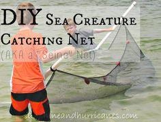 DIY Sea Creature Net Create a simple net to catch all the fun in fresh or salt water!!!!!!!!! sunshineandhurricanes.com