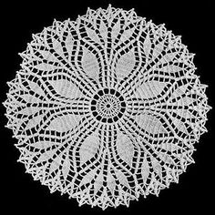 Fern Leaf Doily crochet pattern from Star Doily Book No. by American Thread Company. Fern Leaf Doily crochet pattern from Star Doily Book No. by American Thread Company. Vintage Crochet Doily Pattern, Free Doily Patterns, Crochet Dollies, Crochet Motif, Crochet Designs, Knitting Patterns, Free Pattern, Crochet Leaves, Pattern Ideas