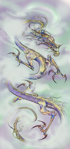 Asian dragon I created in Photoshop.