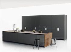 Stone kitchen with island XILA - Boffi