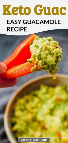 Want to learn how to make the best homemade guacamole dip? This is a super easy recipe for making healthy guacamole with simple seasonings. Shredded cheddar cheese is stirred in for extra flavor. Serve this keto friendly guacamole with low carb crackers or vegetable dippers.