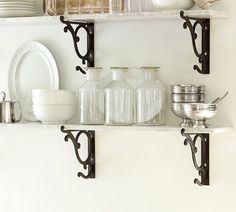 Naturally ornamented with crystalline sparkles and colored veining, marble is loved for its beauty as well as its durability. Mount these versatile marble shelves above the bar to create a display of bottles and glasses, or use them in any room to… Bath Furniture, Marble Shelf, Home, Home Kitchens, Condo Kitchen, Shelves, Home Projects, Shelf Brackets, Wall Candle Holders