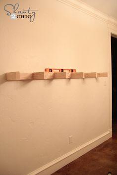 Attach shelf with level
