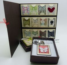 Bag Dangle and matching card made using Stampin' Up! Simply Adorned Charm