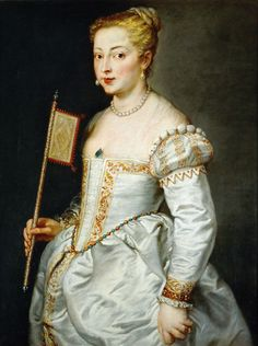 Portrait of a Lady by Peter Paul Rubens [after Titian's Portrait of a Lady in White, Renaissance Mode, Renaissance Costume, Renaissance Fashion, Renaissance Clothing, Italian Renaissance, Historical Clothing, Peter Paul Rubens, Italian Outfits, Italian Fashion