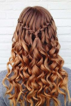 10 Pretty Waterfall French Braid Hairstyles Down Hairstyles For Loose Waterfall Braid For Summer Hair Inspiration Braid Braided 15 Best Long Wavy Hairstyles Pop Down Hairstyles For Long Hair, French Braid Hairstyles, Easy Hairstyles, Dance Hairstyles, Amazing Hairstyles, Hairstyles 2018, Wedding Hairstyles, Easy Homecoming Hairstyles, Hairstyle Ideas