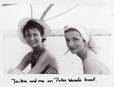 """""""Jackie and me on Peter Ward's boat."""""""