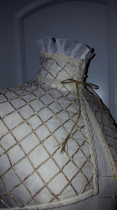 Silk Organza, Under-Partlet, Renaissance, Elizabethan Costume, 90% Hand-stitched- MADE TO ORDER by DesignsFromTime on Etsy
