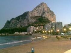 Calpe Beach at dusk