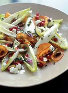 Endive Salad with Persimmon and Pomegranate from @A Williams-Sonoma, kinda wanna' try it but without the pomegranate.