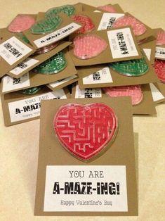 cute maze as valentine for classmates