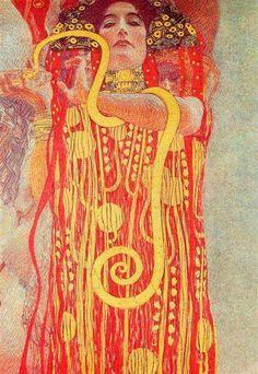 Medicine by Gustav Klimt https://www.wikiart.org/en/gustav-klimt/university-of-vienna-ceiling-paintings-medicine-detail-showing-hygieia-1907-1