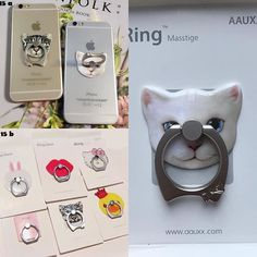 Cartoon iRing Available for iPhone/Android/Tablet  Price : IDR 90K Close PO 25…