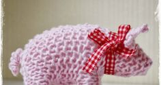 Instructions knit pig – The Best Ideas Knitting Needles, Knitting Yarn, Knitting Patterns, Knitting Ideas, Diy Crafts To Do, Cute Crafts, Needle Felted Animals, Needle Felting, Felt Bunny