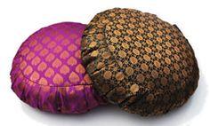 Sari Pattern Zafu Meditation Cushion | Barefoot Yoga Com oh yes... Taj Purple, Taj Green, Festival Paisley... any!