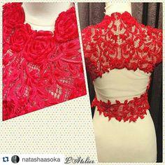 "Design by @natashaasoka ""ROUGE SĒDUIRE - red seduction"" Red velvet embroidered crop jacket with 3D red roses and cut out detail. #natashaasoka #artoffashion #desicouture #fashiondiaries #flauntit #hautecouture #inspiration #indonesianfashion #india #indoindians #loveforfashion #latelier #chiffontalk #couture #madetoorder #embroideries #roses #velvet #shaadibazaar #celebrity #details #eyefordetail #cropjacket #sexyback #seduction #rouge #rougepurcouture #vogueindia #couturefashionweek"