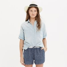 Madewell+-+Chambray+Courier+Shirt