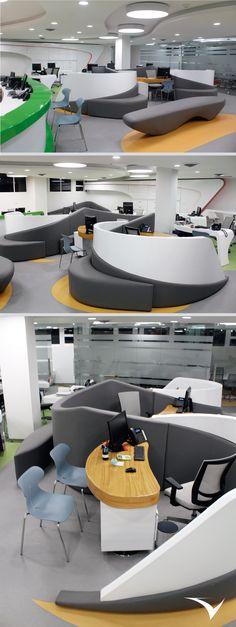 El centro de innovación financiero del fondo de empleados de la Universidad Industrial de Santander (FAVUIS) diseñado por Vircorp en conjunto con la firma de arquitectura española BUCBA en la ciudad de Bucaramanga. https://www.vircorpdesign.com/oficina