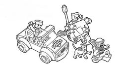 lego coloring pages police