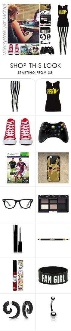 """Videogames with Michael"" by michaelssmile ❤ liked on Polyvore featuring Glamorous, Converse, Microsoft, Ray-Ban, NARS Cosmetics, Chanel, Sisley, TheBalm and Bling Jewelry"