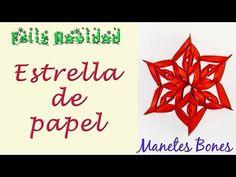 Estrella de Navidad  Viernes de papel – Videotutorial DIY   Manetes Bones