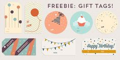 Freebie: Birthday Gift Tags | Every-Tuesday: http://every-tuesday.com/freebie-birthday-gift-tags/