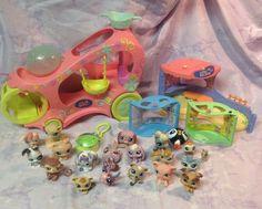 LITTLEST PET SHOP LPS Huge Lot - 19 Dogs, Cats, Animals! Cart Play Place Hasbro #Hasbro