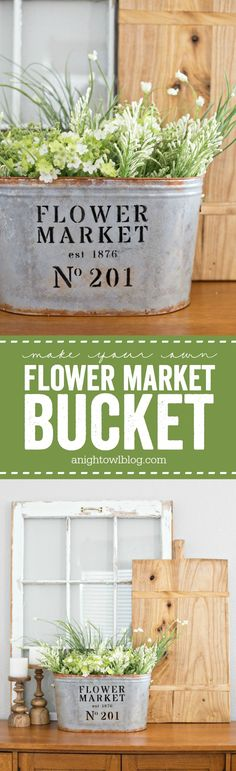 Metal Flower Market Bucket Love a modern farmhouse look for less? Make your own DIY Metal Flower Market Bucket in just a few easy steps!Love a modern farmhouse look for less? Make your own DIY Metal Flower Market Bucket in just a few easy steps! Farmhouse Style, Farmhouse Decor, Modern Farmhouse, Farmhouse Interior, Farmhouse Ideas, Deco Champetre, Bath Bomb Recipes, Metal Flowers, Vintage Flowers