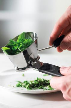 Herb Mincer - just wind the handle to cut up herbs