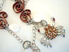 OOAK Wire Wrapped Little Crabby Necklace by Debbie by DebbieRenee, $36.00