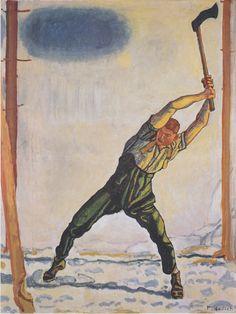 Ferdinand Hodler  Le bûcheron _-_Der_Holzfäller_-_1910