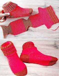 Two Needle Socks - Free Knitting Pattern - knitting socksYou can find Socks and more on our website.Two Needle Socks - Free Knitting Pattern - knitting socks Loom Knitting, Knitting Stitches, Knitting Socks, Knitting Patterns Free, Knit Patterns, Free Knitting, Knitting Needles, Knit Slippers Free Pattern, Crochet Socks