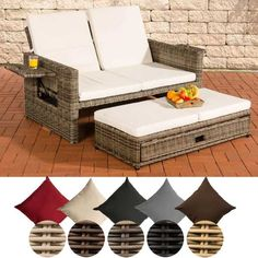 Flexibles Poly Rattan 2er Lounge Sofa ! Gartengarnitur Garten Garnitur  Outdoor Lounge Möbel Gartengarnituren