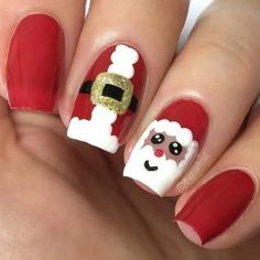 Hannah Weir has given a new meaning to frosted tips. The self-taught Melbourne nail artist has shared a video of herself painting Frosty the Snowman on to her nails - and it's easier than it looks Orange Nail Designs, Holiday Nail Designs, Holiday Nail Art, Christmas Nail Art, Cool Nail Designs, Santa Christmas, Santa Nails, Xmas Nails, Nailart