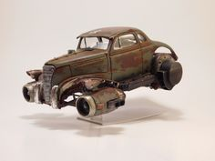 Jet powered rat rod. Dieselpunk. Rust.