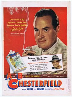 Bob Hope Chesterfield Ad (1949)
