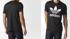 Men's adidas Originals TREFOIL TEE BLACK AJ8830                    The adidas Originals Trefoil Tee puts the Trefoil logo front and centre in a bold contrast colour to show off adidas pride. This men's t-shirt has a regular fit and a cotton single jersey build for a comfy fit and feel.      Ribbed crewneck  Contrast Trefoil logo on front  Large contrast Trefoil logo on the front  Regular fit  100% cotton single jersey  Machine wash up to 40°, tumble dry low, iron on medium but…