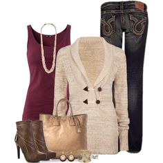 A fashion look from October 2012 featuring Rip Curl sweaters, H&M tops and Big Star jeans. Browse and shop related looks.