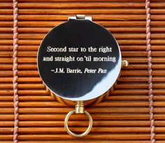 Second Star to The Right J M Barrie Peter Pan Engraved Brass Pocket Compass | eBay
