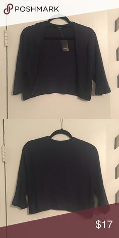 Torrid Navy Short Caridgan Perfect for wearing with a dress. NWT Torrid Size 3 torrid Sweaters Cardigans
