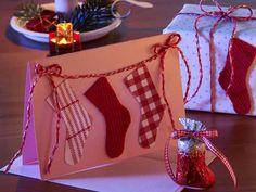 Weihnachtenskarte 'Schühchen'